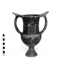 Heraclea Sintica black-glazed kantharos